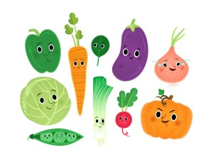 Cute veggies