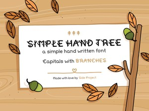 Simple Hand Tree handwritten font