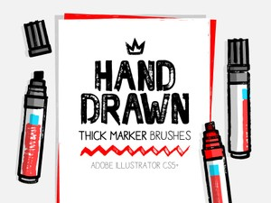 AI thick and dry marker brushes
