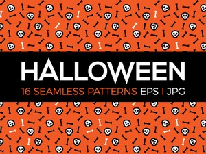 16 Halloween seamless patterns
