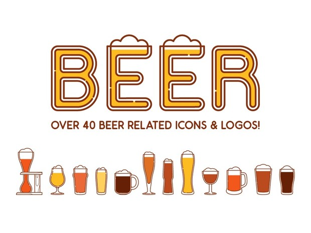 Beers, glasses and logos