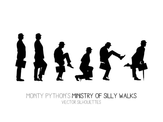 Ministry of Silly Walks (6 postures)