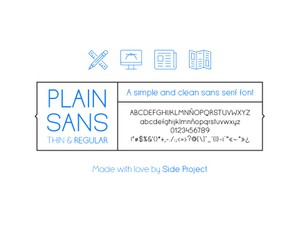 Plain Sans font Regular & Thin