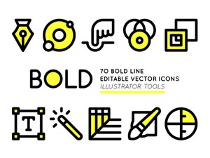 BOLD Adobe Illustrator tools icons