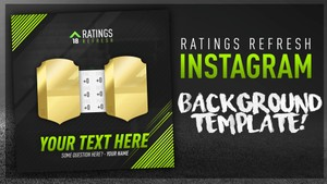 FIFA 18 Ratings Refresh Instagram Background Template