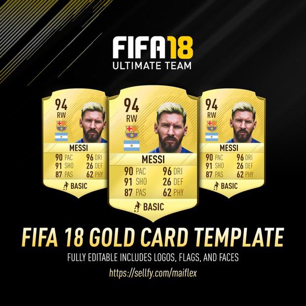 *NEW* FIFA 18 GOLD CARD TEMPLATE (FULLY EDITABLE)