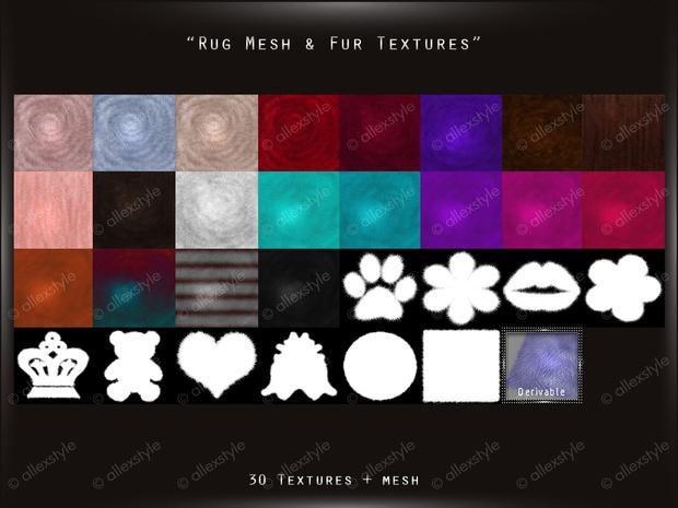 Rug Mesh+ Fure Textures