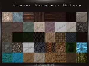 Summer seamless nature
