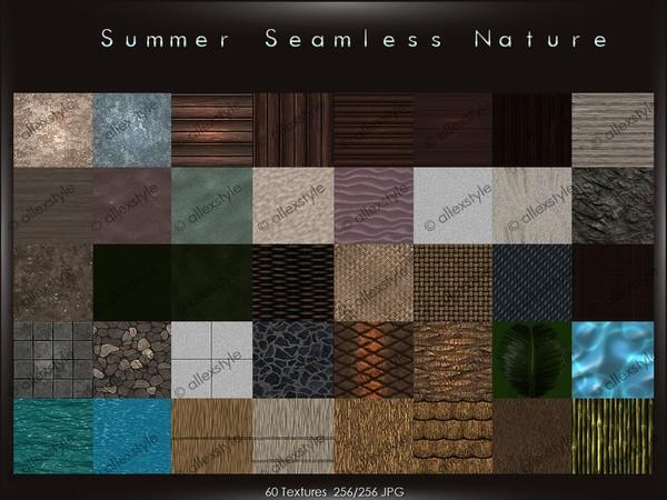 Summer seamless nature