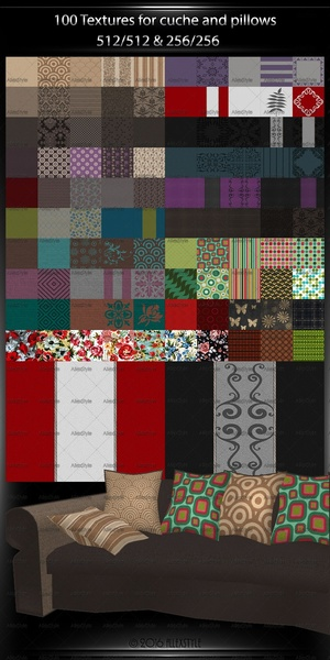 100Textures Couch-Pillows