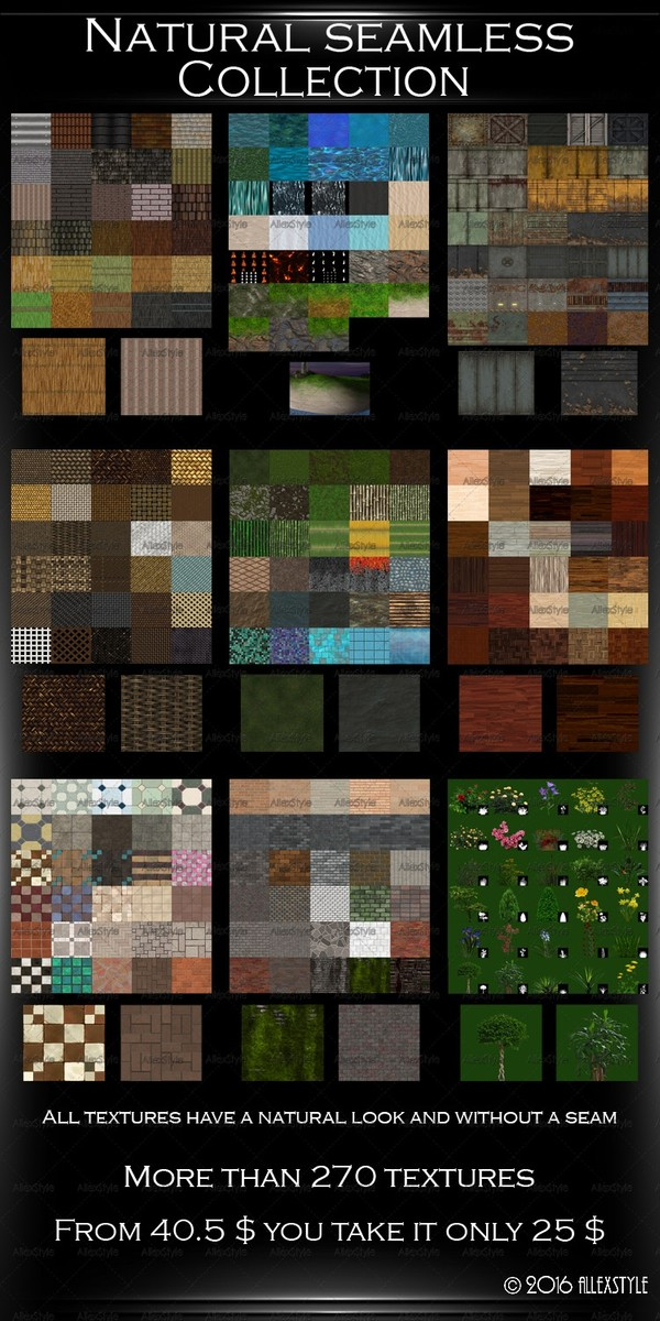Natural  Seamless Collection 9 Files