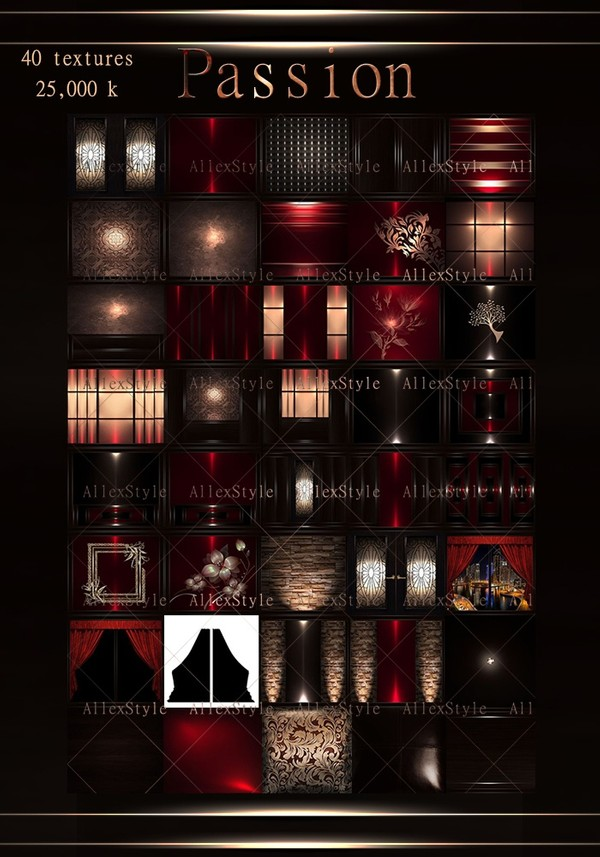 """IMVU TEXTURES FILE """"PASSION RED"""""""