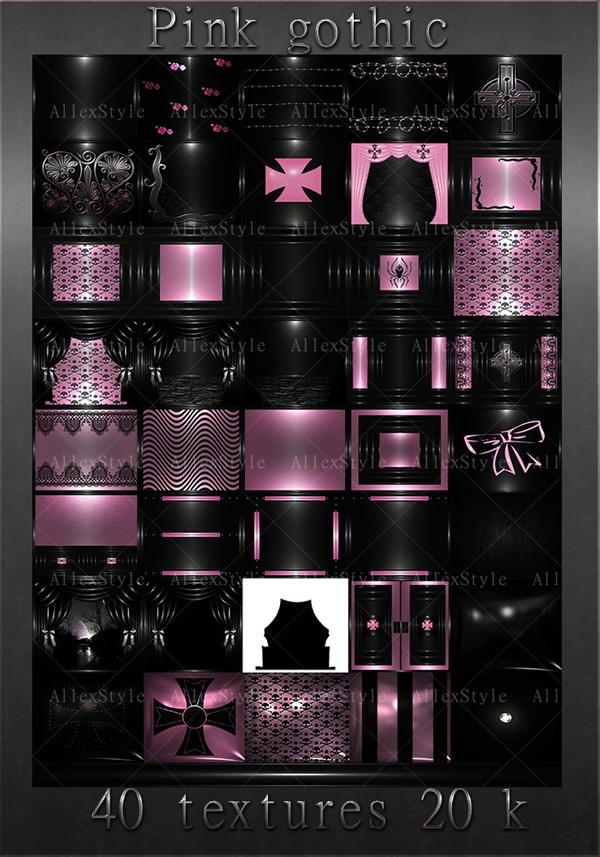 """IMVU TEXTURES FILE """"GOTHIC PINK"""""""
