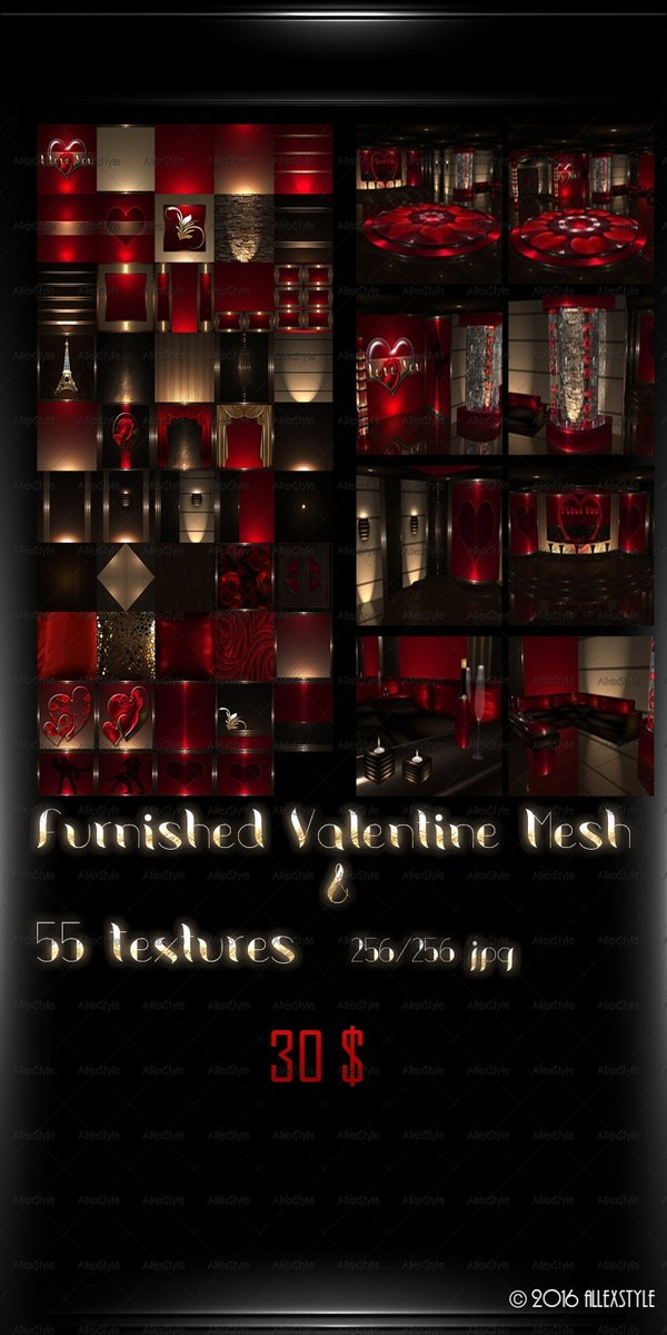 Valentine Furnished Mesh & Textures