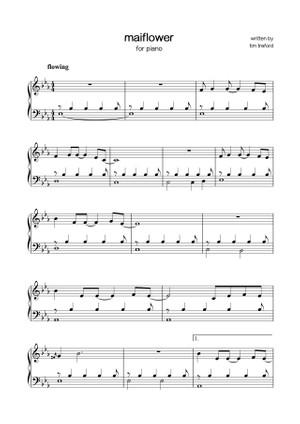 sheet music - tim treford - mayflower