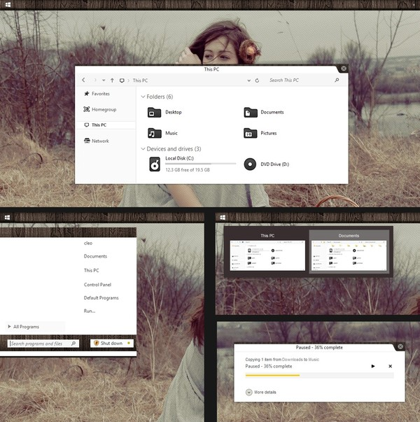 lne  theme For Windows 8 and 8.1