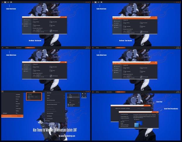 iKon Theme For Windows10 Anniversary Update 1607