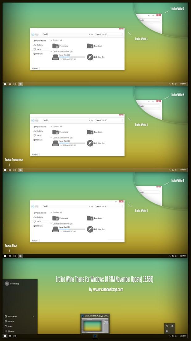 Eroliot White Theme For Windows10 November Update