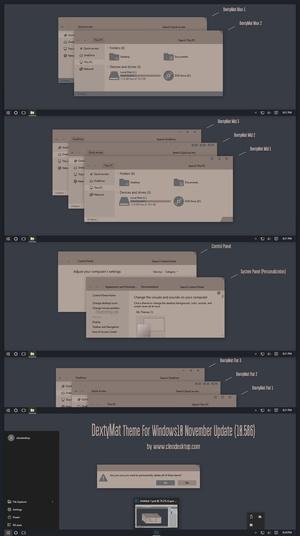 DextyMat Theme For Windows 10