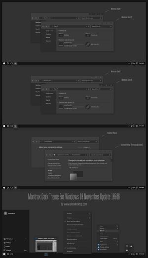 Montrax Theme For Windows10 November Update (10586)