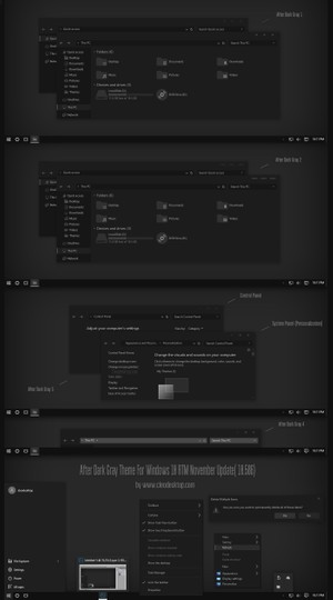 After Dark Gray Theme For Windows 10