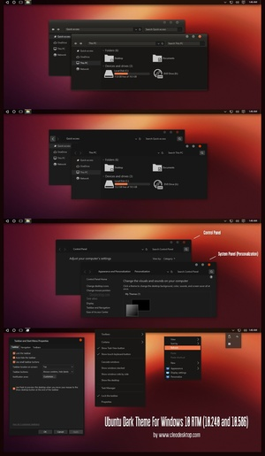 Ubuntu Dark Theme For Windows 10