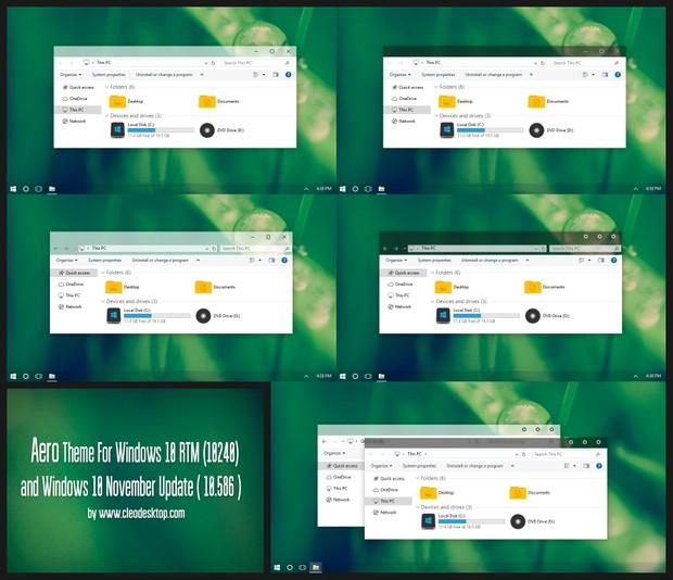 Aero Theme For Windows 10