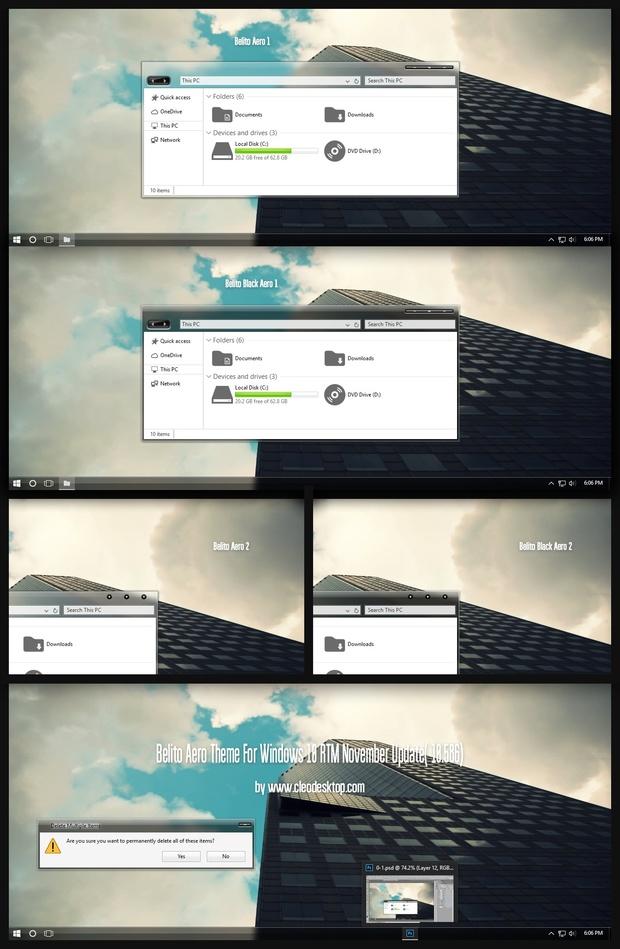 Belito Aero Theme For Windows 10