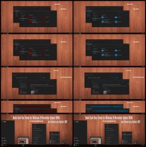 Nulito Dark Blue and Red Theme Windows 10