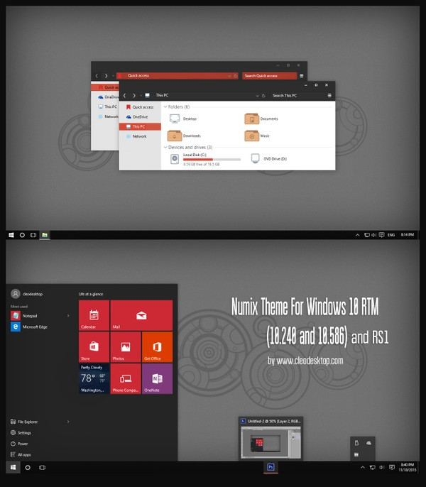 Numix Theme For Windows 10