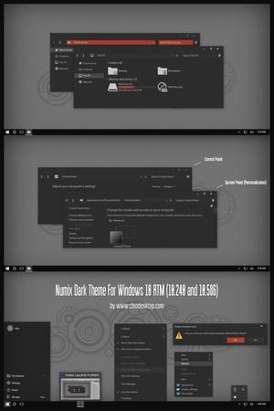 Numix Dark Theme For Windows 10