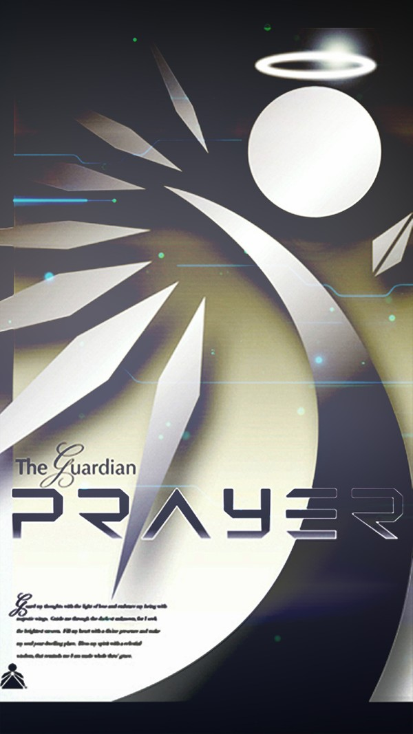 Guardian Prayer Cell Phone Screen Saver