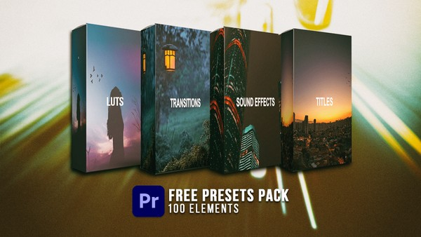 FREE 100 Presets Pack for Adobe Premiere Pro