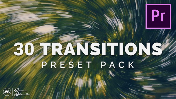 30 Transitions Preset Pack for Premiere Pro