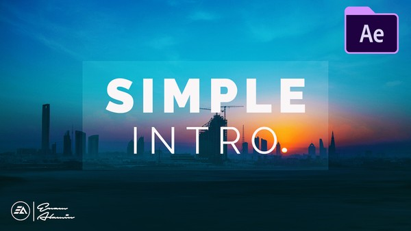 Simple Sliding Intro in Adobe After Effects CC