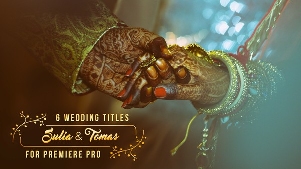 FREE 6 Animated Wedding Titles Preset for Premiere Pro