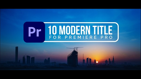 FREE 10 Modern Title Animations Pack for Premiere Pro | MOGRT