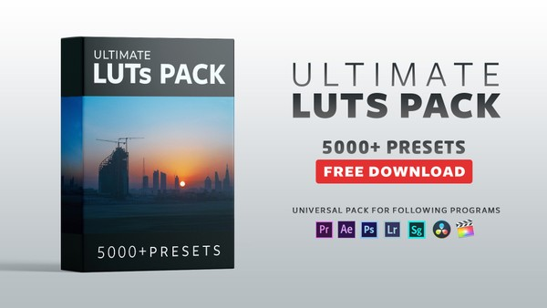 FREE ULTIMATE LUTs PACK | 5000+ Lut Presets