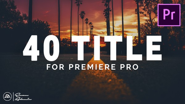 40 Modern & Clean Title Animation Pack for Premiere Pro || MOGRT