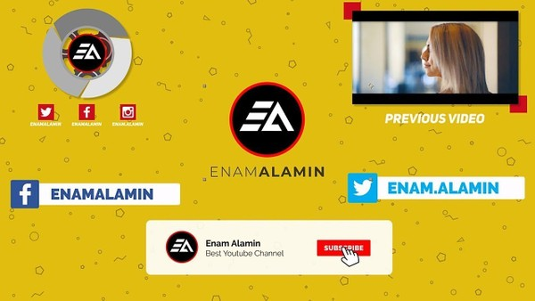 EA YouTube Intro, Lower Thirds & Outro
