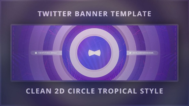 free photoshop twitter banner template 2d clean trop