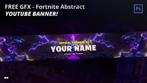 Free Gfx Purple Fortnite Abstract Youtube Banner