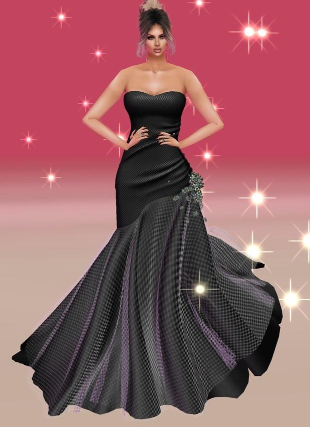 Side Trumpet Black Gown