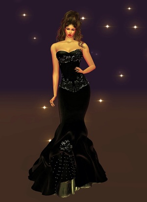 Sparkle Black Gown