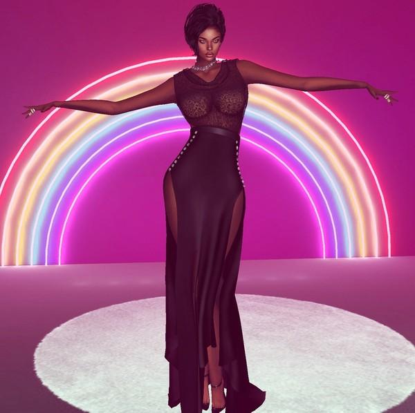Goddess Black Gown
