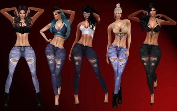 5 shades of Denin