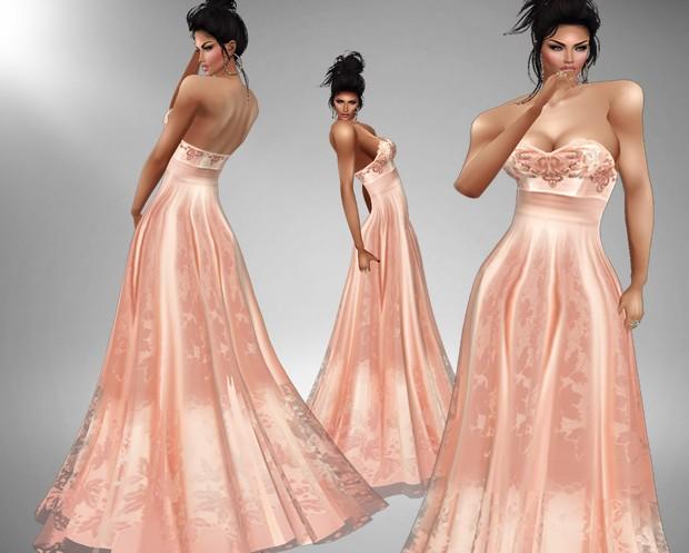 Sweet Peach Gown