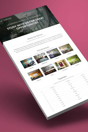 Our School - Responsive HTML5 One Page Template