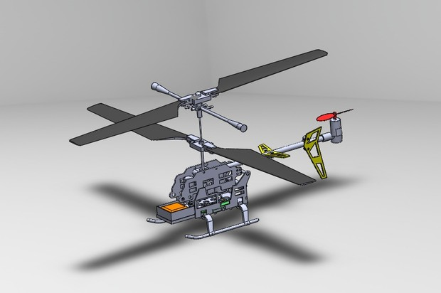 Helicopter 3D Model (solidworks 2016)
