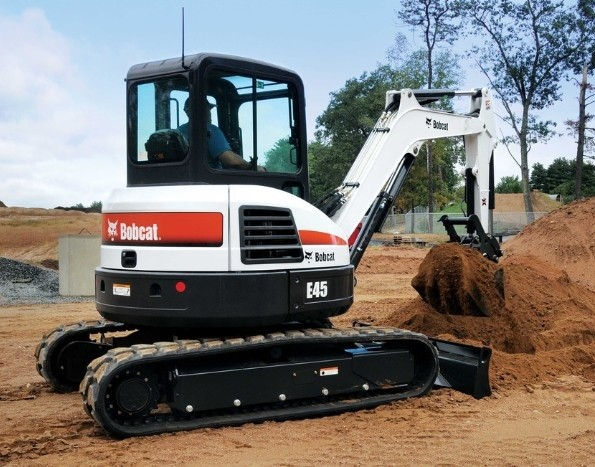 Bobcat E45 Compact Excavator Service Repair Manual (S/N AG3G11001 & Above, S/N AHHC11001 & Above)
